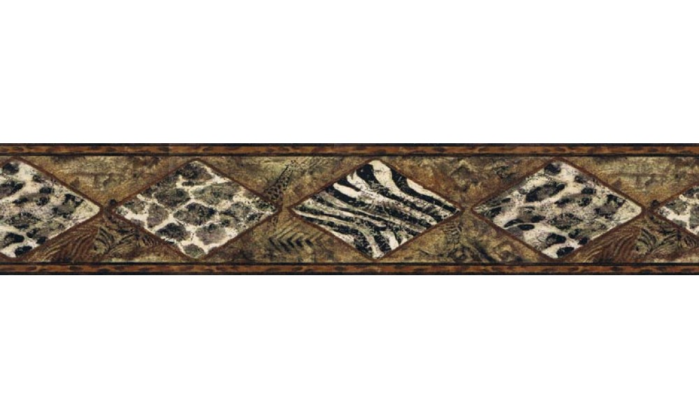 Home Vintage Borders Animal Print Wallpaper Border B30017 1000x600