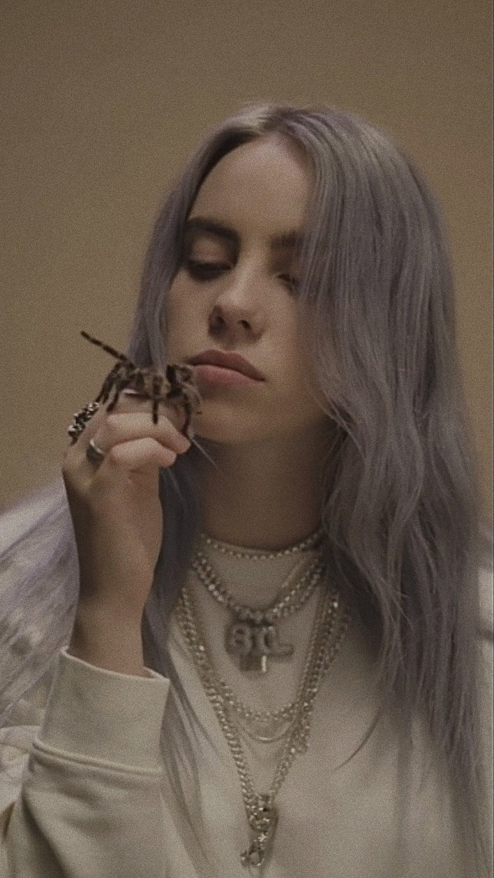 Billie Eilish phone wallpaper I am using it from now on 708x1258