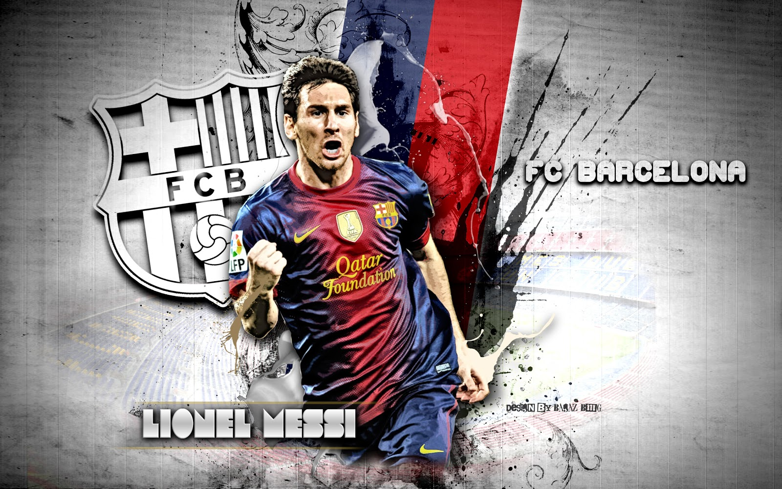 Beautiful HD wallpaper Barcelona FC 2013 Lionel Messi 1600x1000