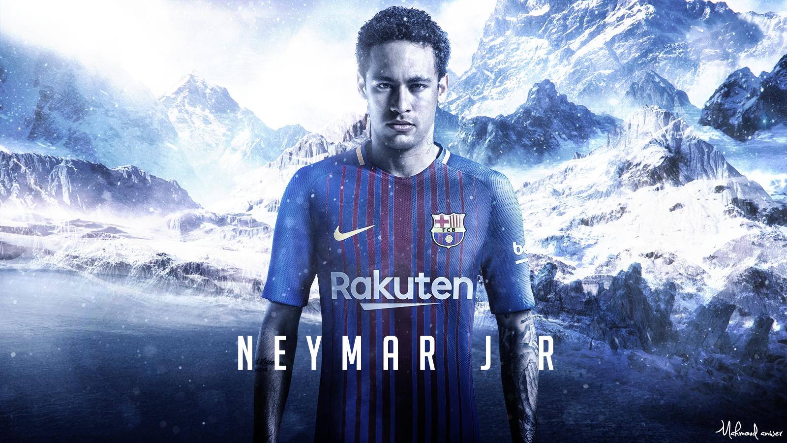 Neymar JR 2017 Wallpaper by mahmoddesigner 1600x900