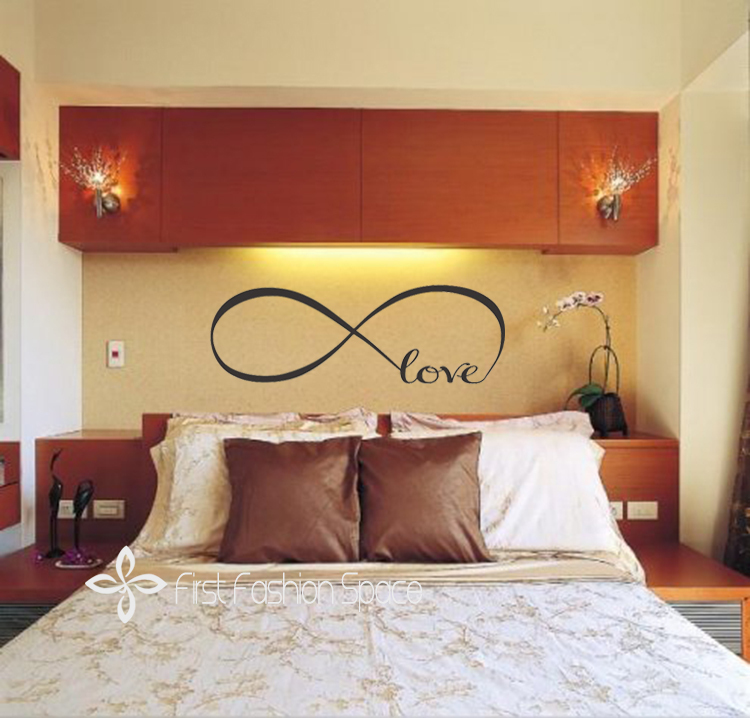 Personalized Infinity Symbol Bedroom Vinyl Wallpaper DIY Wall Decals 750x718