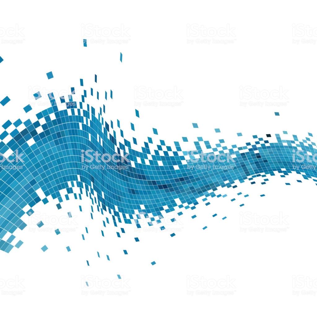 Vector Digital Data Infographic Background Stock Illustration 1024x1024
