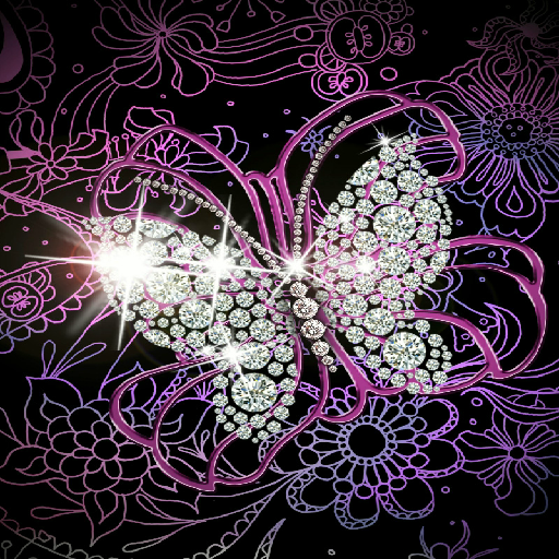 DIAMOND BUTTERFLY WALLPAPER Amazoncouk Appstore for Android 512x512