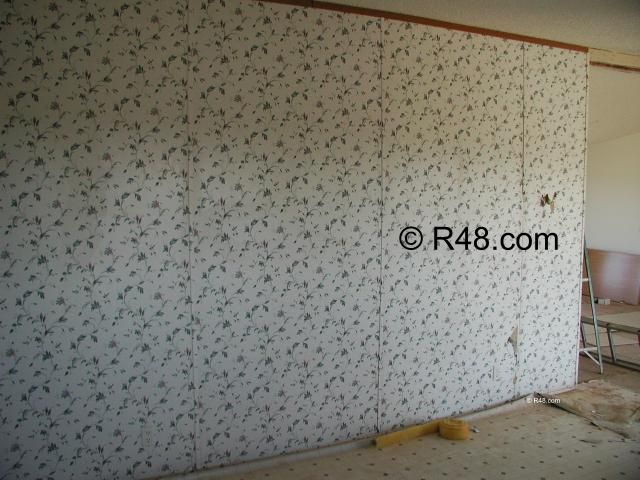 More vinyl covered sheetrock to deal with The cabinets are also an 640x480