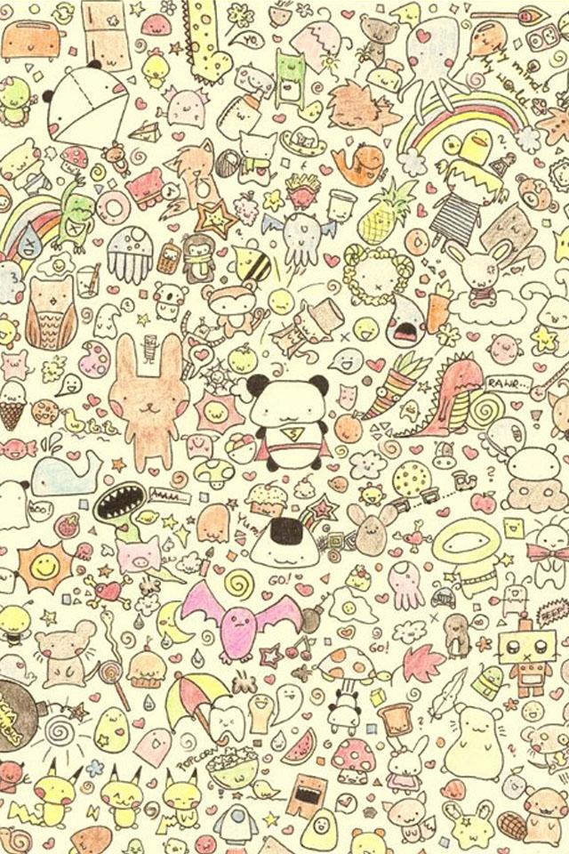 Cute Sweet Korean Girl Black And White Art iPhone s wallpaper