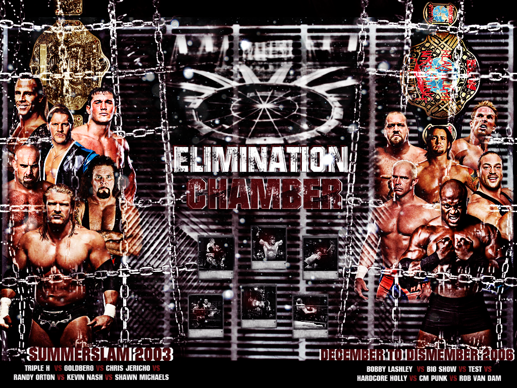 WWE Elimination Chamber Wallpaper by AliTaKeR 1024x768