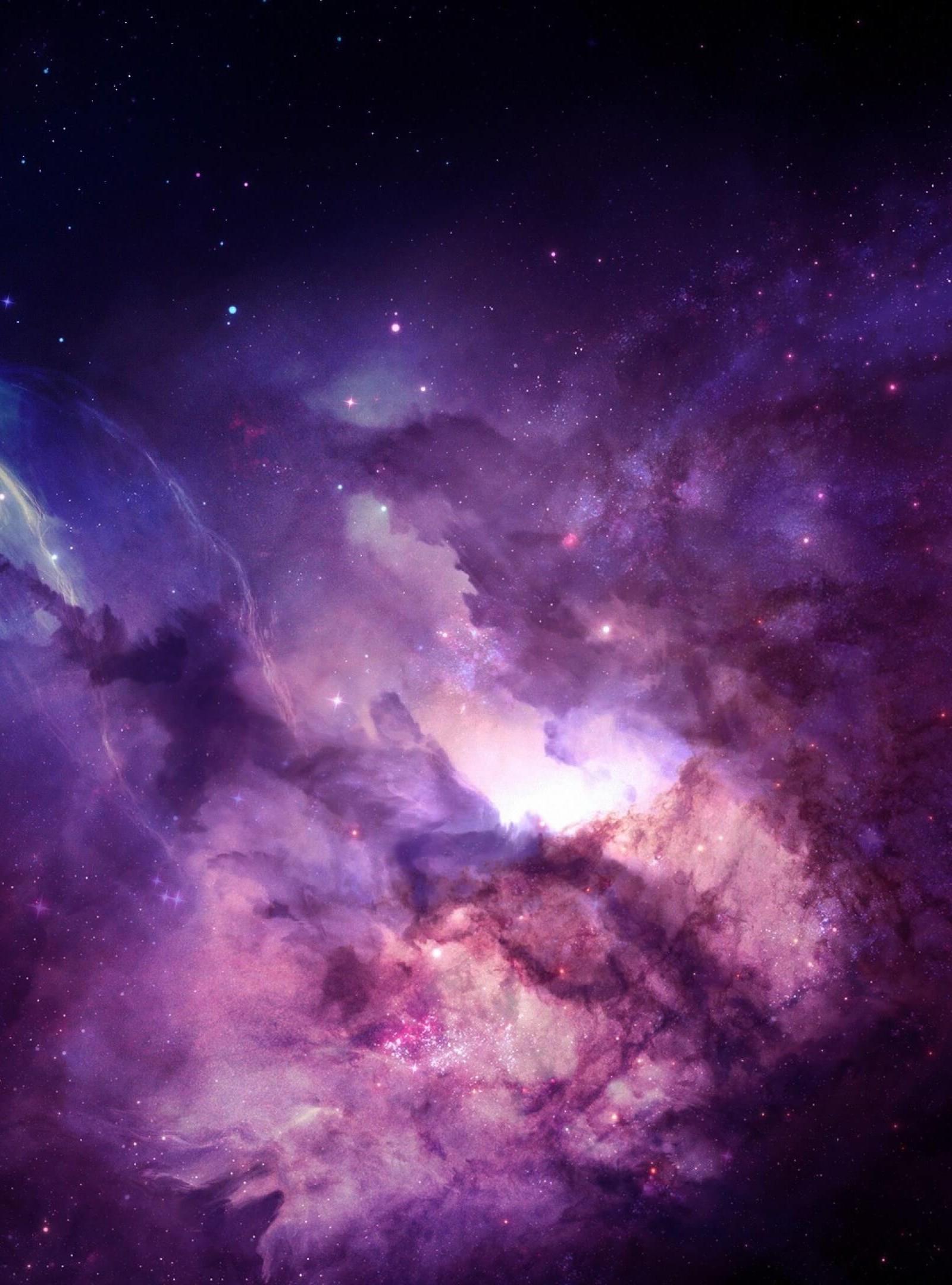 Purple Nebula HD wallpaper for Kindle Fire HDX 89   HDwallpapersnet 1600x2160