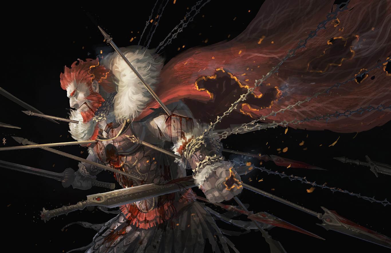 fate zero seeker sword weapon zero rider anime hd wallpaper desktop pc 1366x883