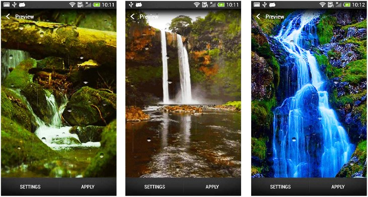 Free download apk andy live blue sparkle waterfalls lwp apk andy