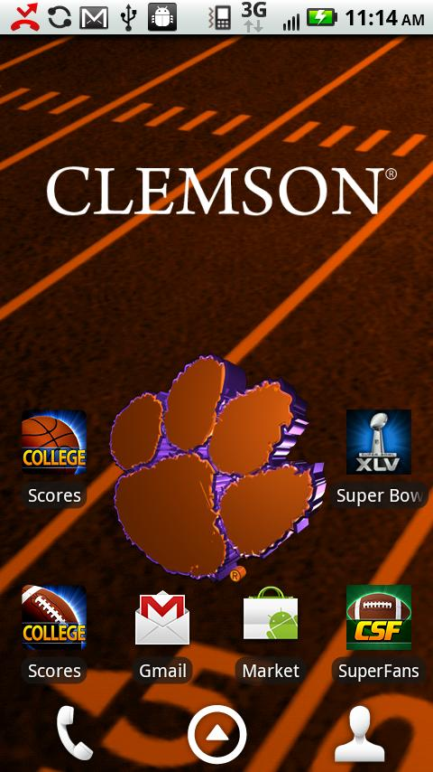 Clemson Live Wallpaper HD   Android Apps and Tests   AndroidPIT 480x854