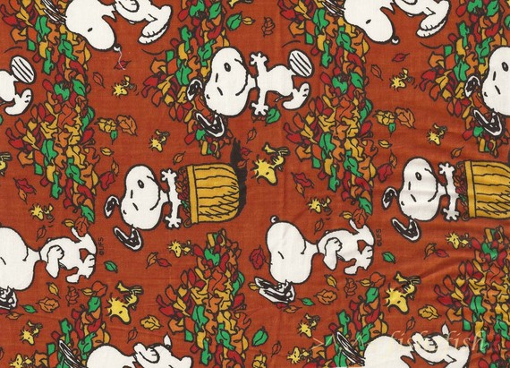 Fall Frolic PEANUTS Character Woodstock SNOOPY Fabric by WitSister 570x411
