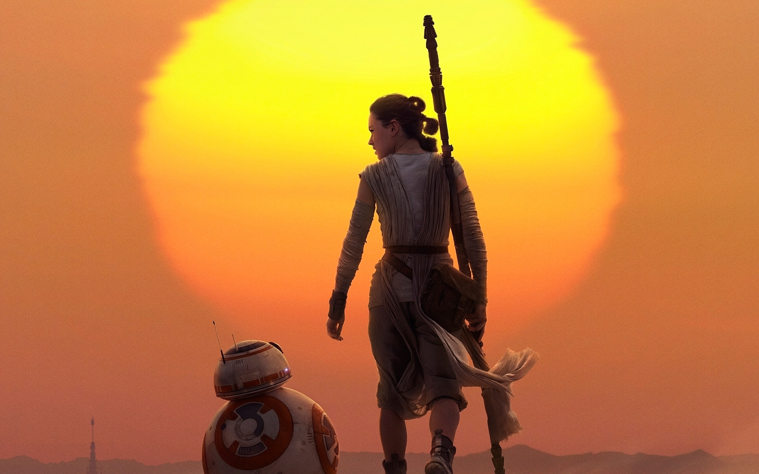 Rey BB 8 Star Wars The Force Awakens Wallpapers HD Wallpapers 2560x1600