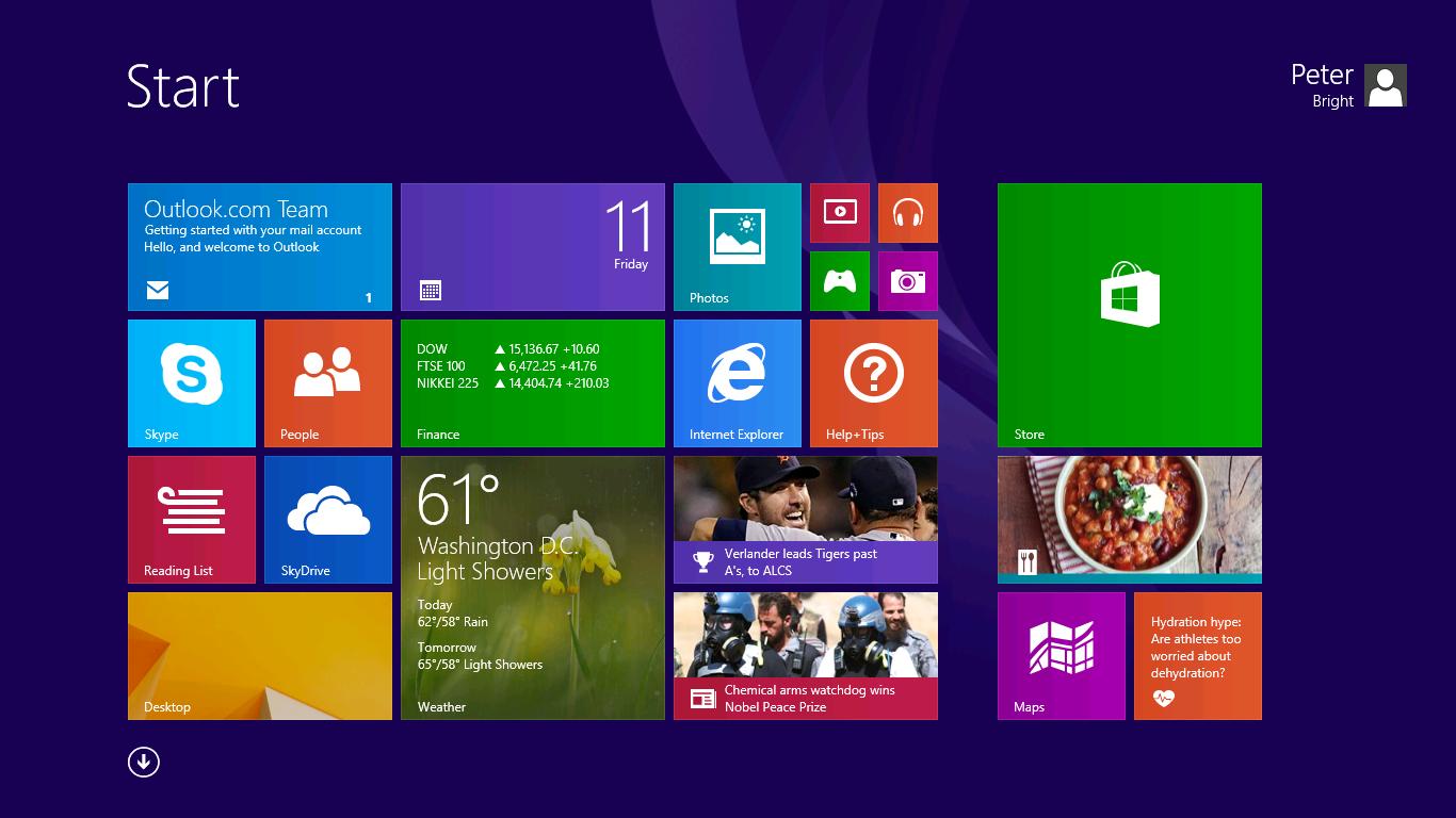 Windows 8 1 Start Screen 1366x768