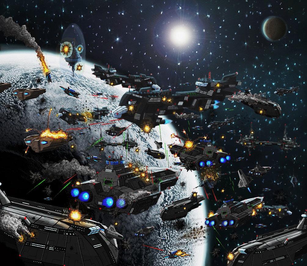 Space Battle by VilleNummisalo 1005x872