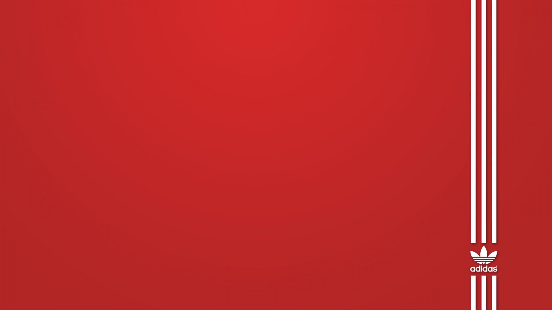 brand adidas red white sport hd wallpaper 1920x1080