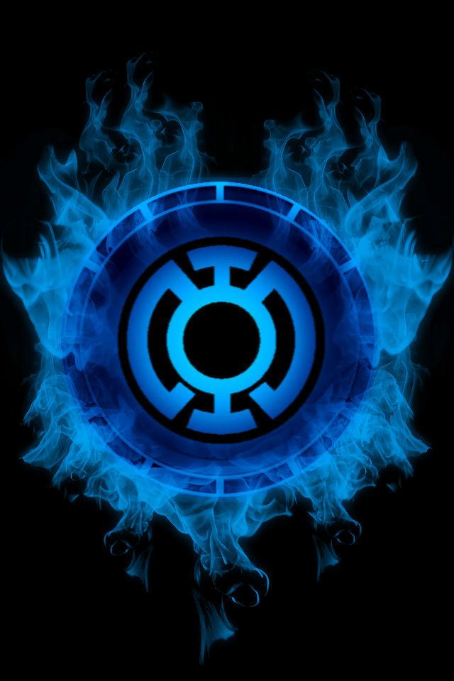 Swirling Blue Lantern Battery Background 640x960