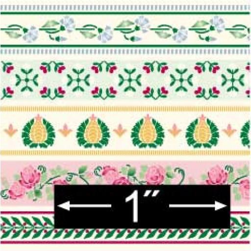 Scale 12 Scale Dollhouse Miniature   Wallpaper Borders BPHBR400 512x512