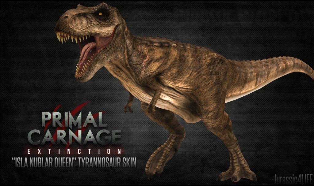 Primal Carnage Isla Nublar Queen Tyrannosaur Skin by Jurassic4LIFE on 1024x608
