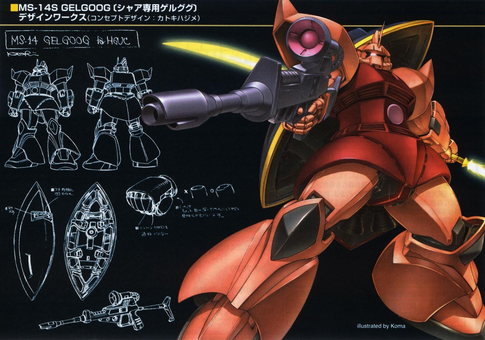 Gundam Walls and LOLS MS 14S Gelgoog HGUC Wallpaper 1600x1121