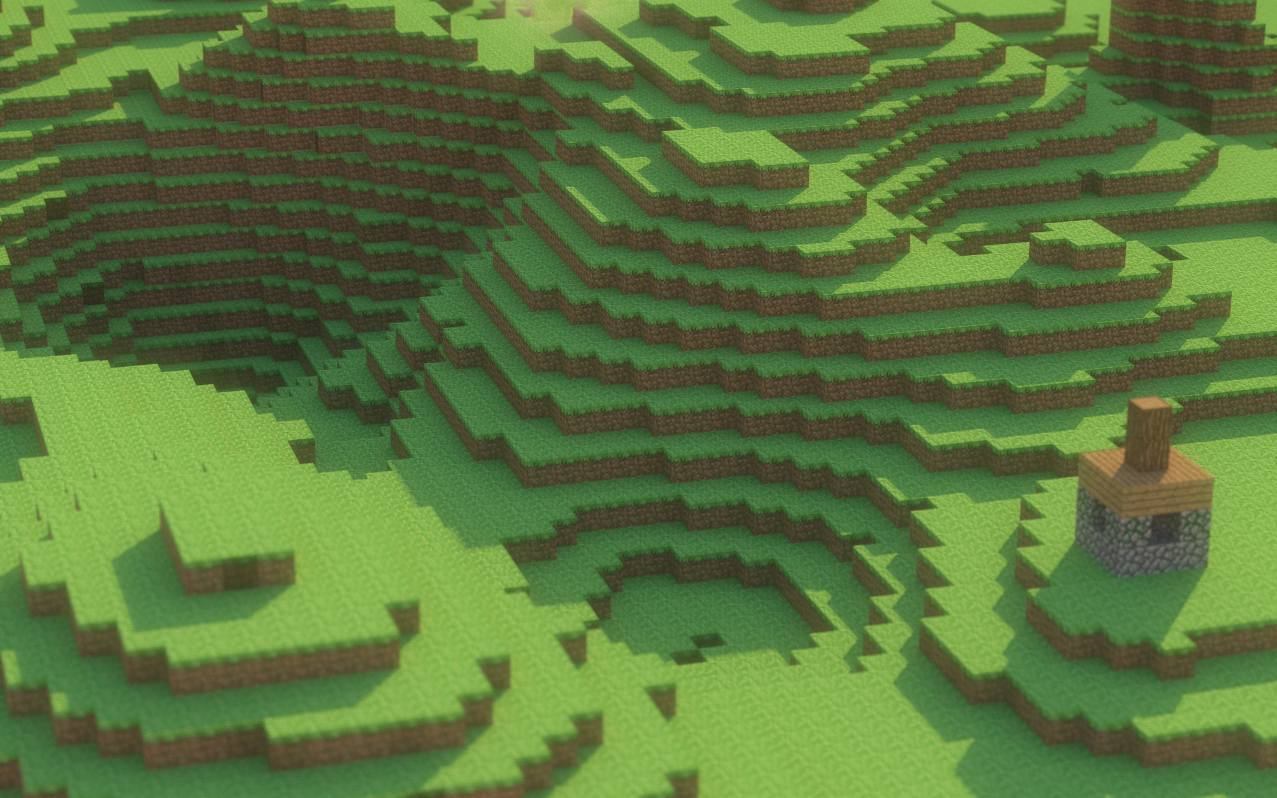 Rendered Minecraft Wallpaper Minecraft Skins 2560x1600