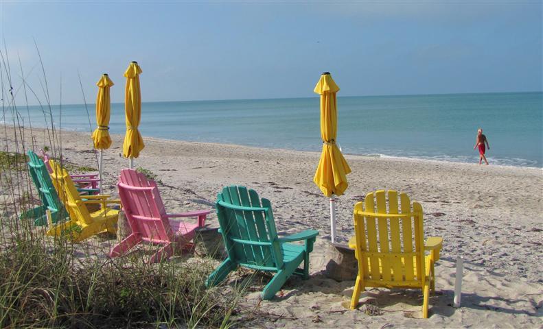 Beach Chairs Desktop Wallpaper