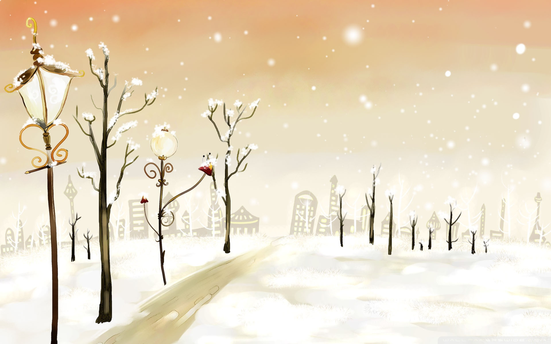 Cute Winter Desktop Background HD 1920x1200 deskbgcom 1920x1200