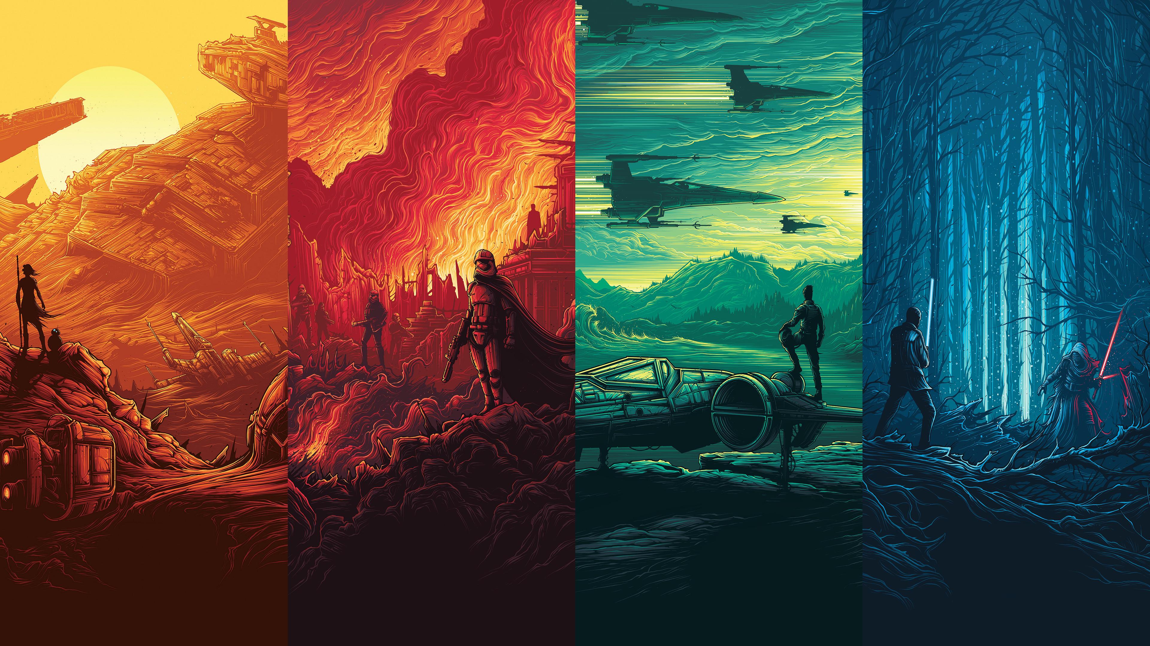 Imax Star Wars posters dual 4k monitors 16 9 HD Wallpaper Collection 3840x2160