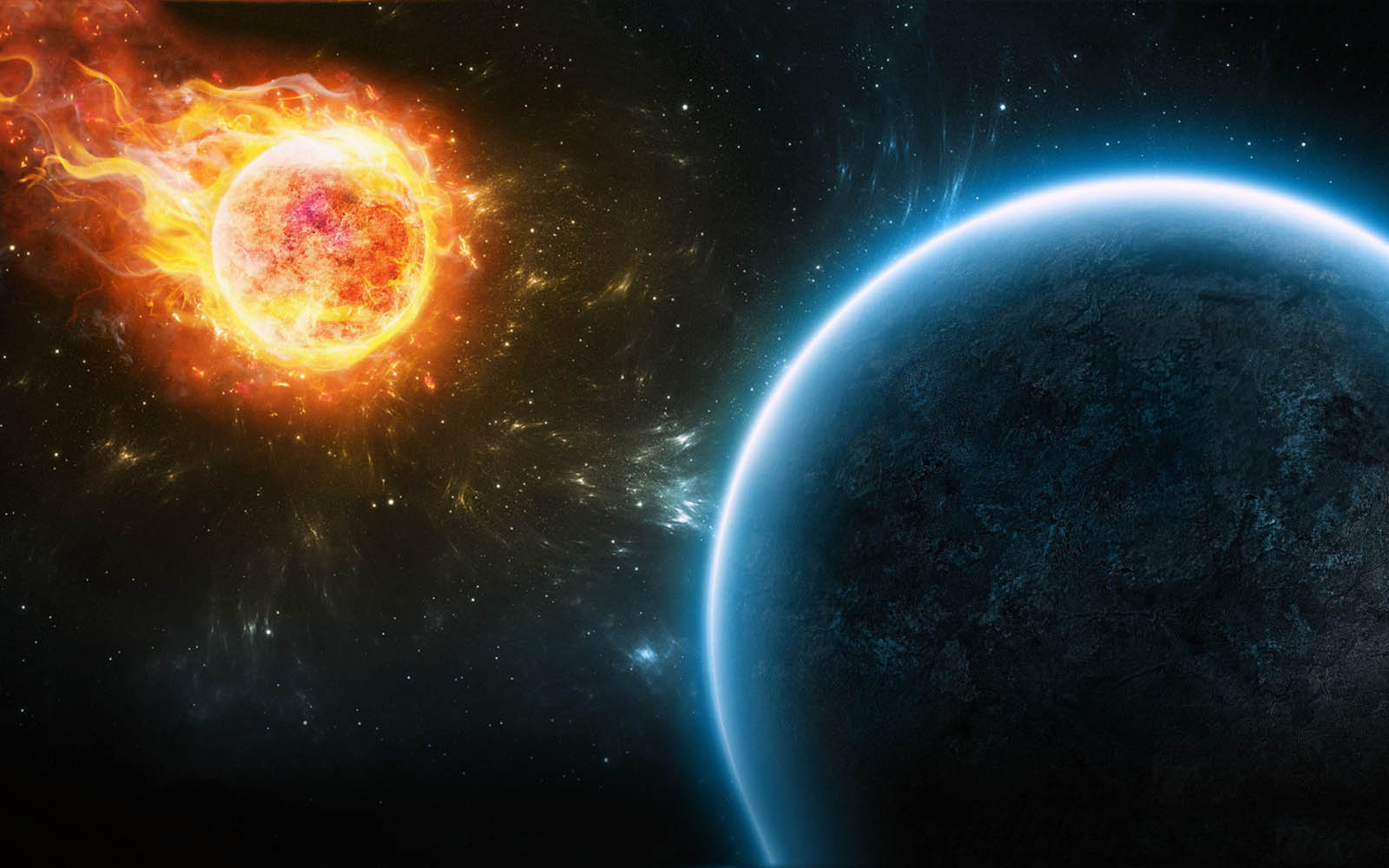 wallpapers Fire In Space Wallpapers 1600x1000