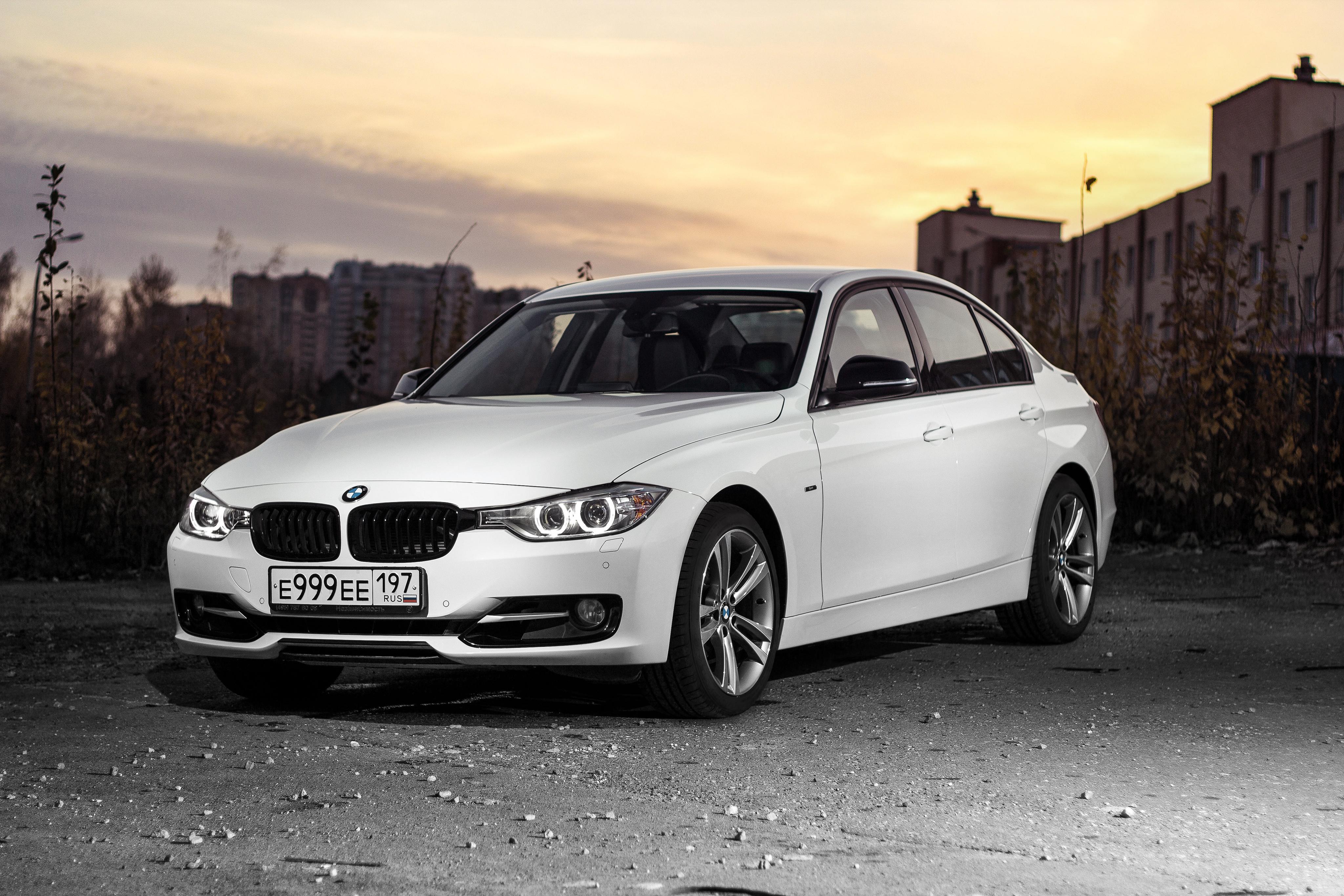 Images BMW 3 Series F30 Sedan White auto 4096x2731 4096x2731