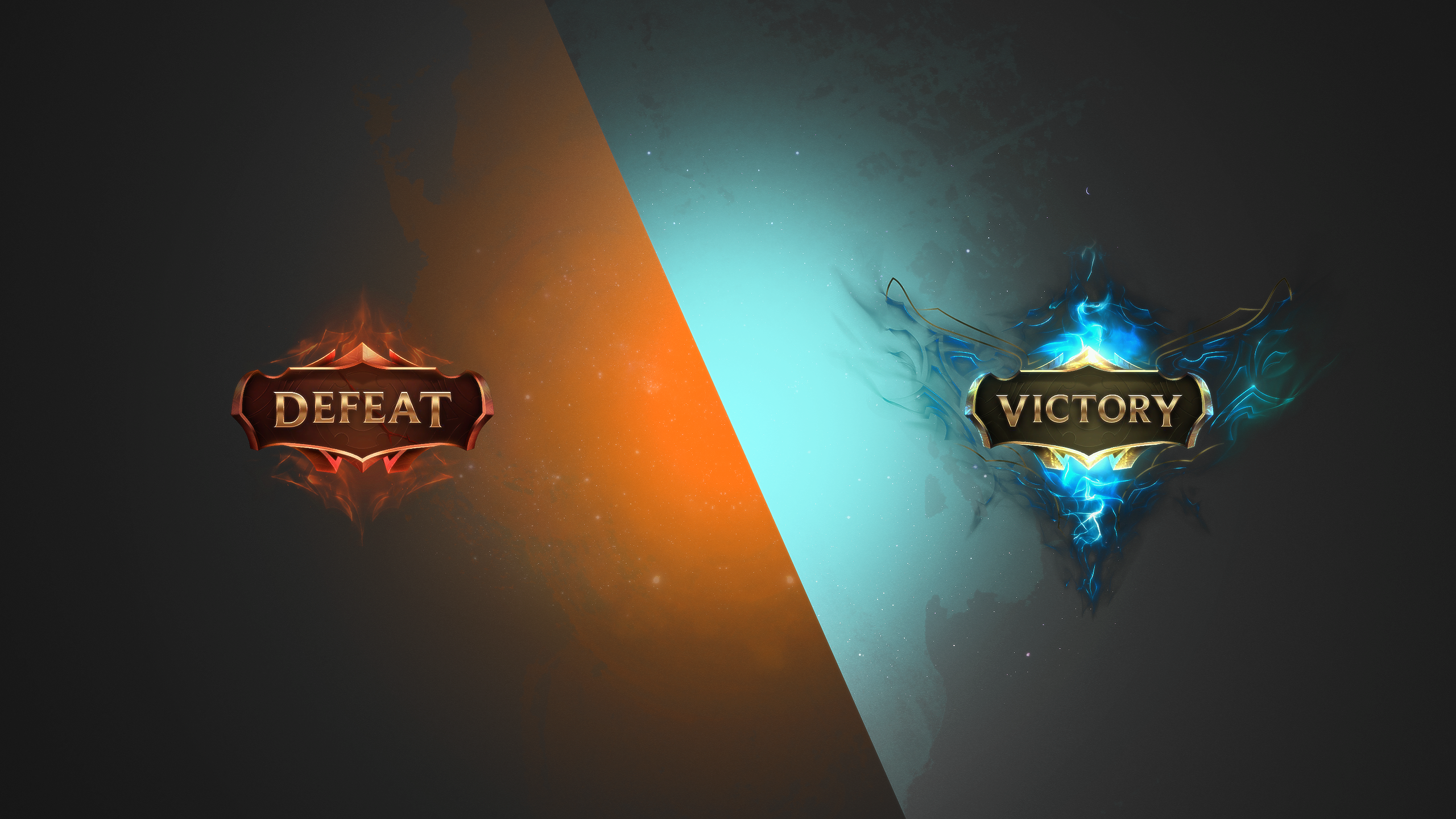 I made some wallpapers with the new VictoryDefeat images 2560x1440