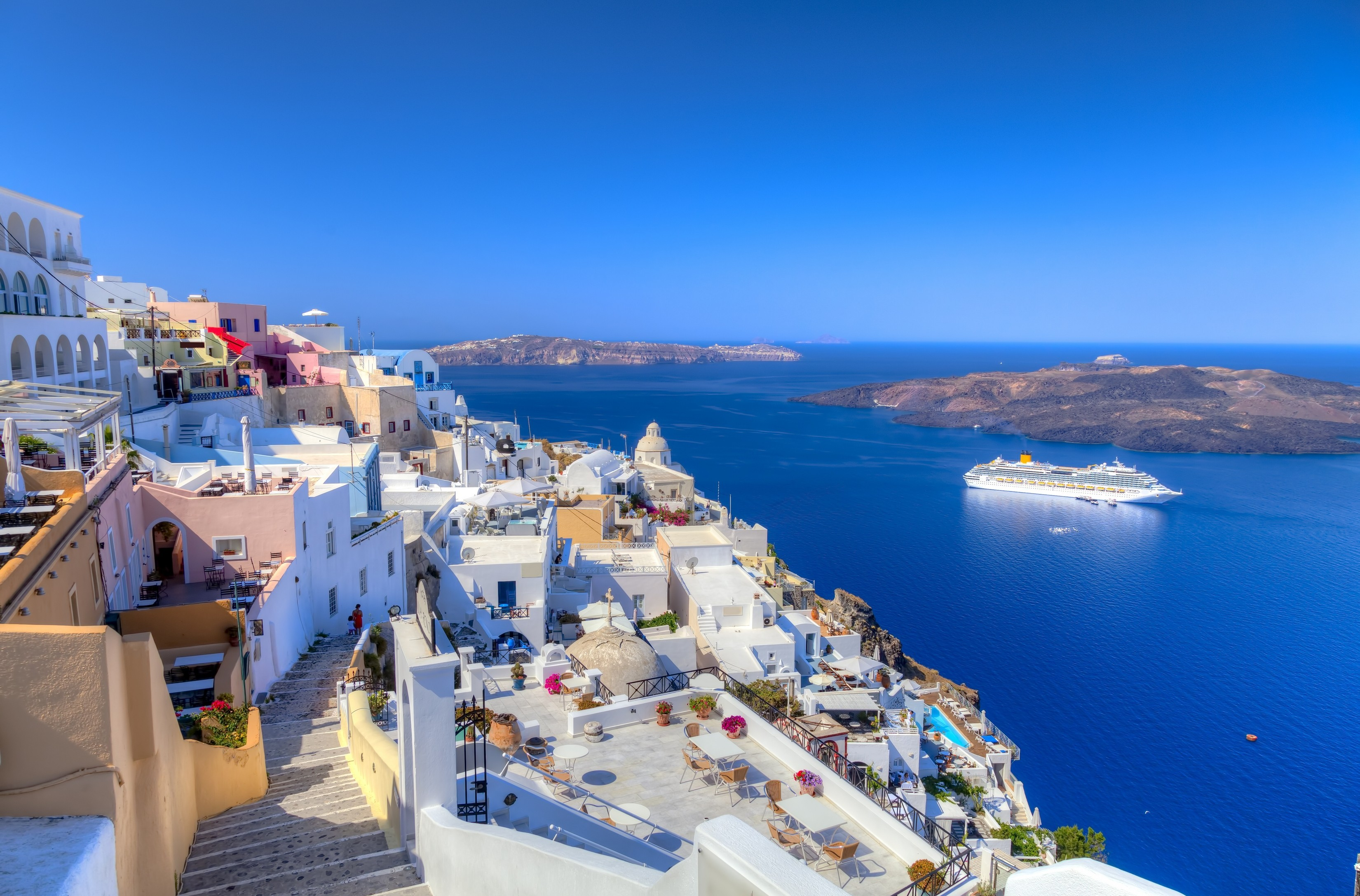 74 Santorini HD Wallpapers Background Images 3300x2175