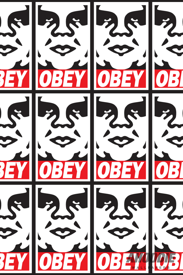 Beautiful Obey Iphone Wallpapers Desktopaper HD Desktop Wallpapers 640x960