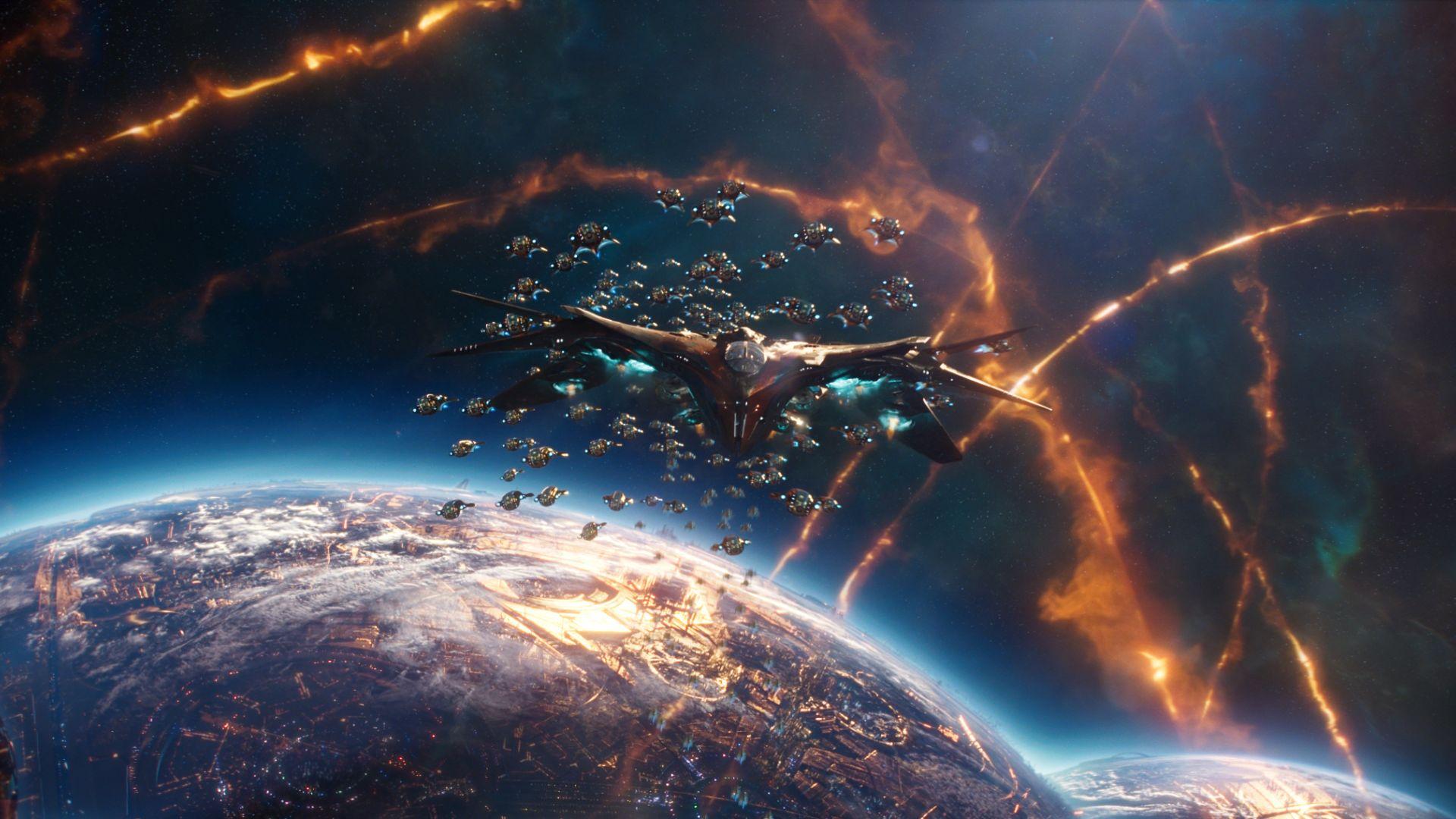 Desktop Wallpaper Guardians Of The Galaxy Vol 2 Movie Spaceship 1920x1080