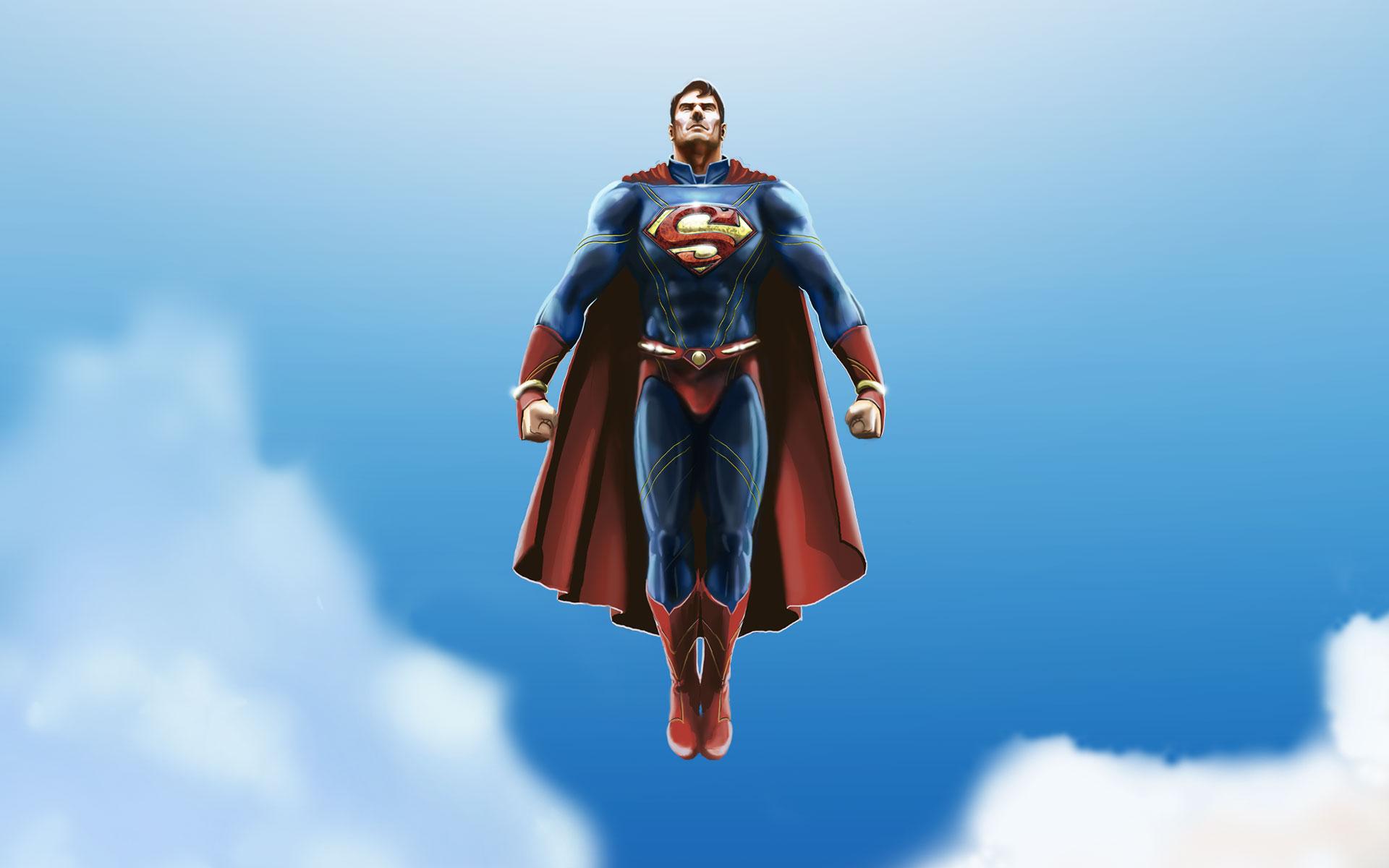 Superman Cartoon Wallpaper Mobile ImageBankbiz 1920x1200