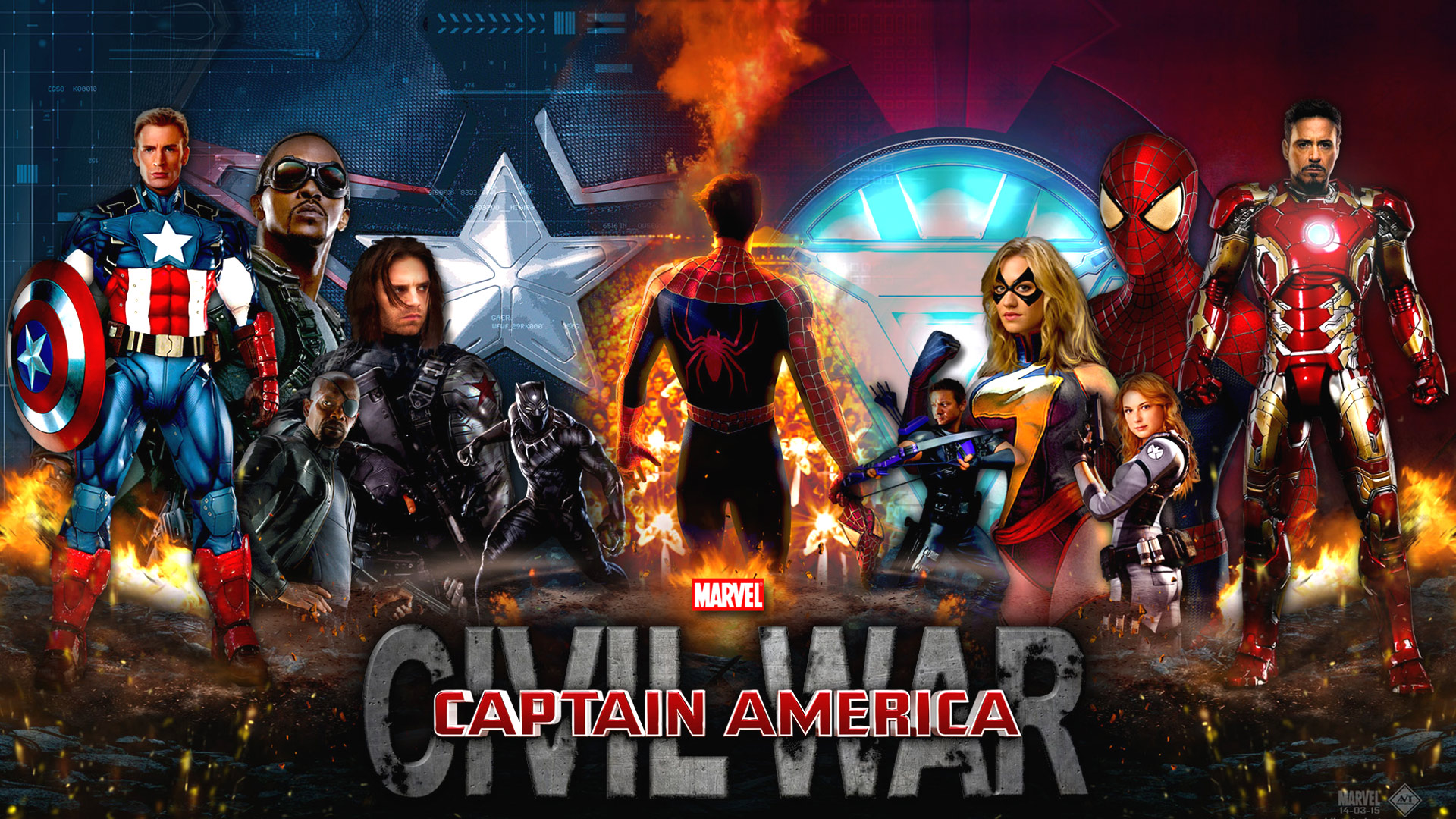 Captain America Civil War Wallpaper 1080p High Resolution Wallpaper 1920x1080