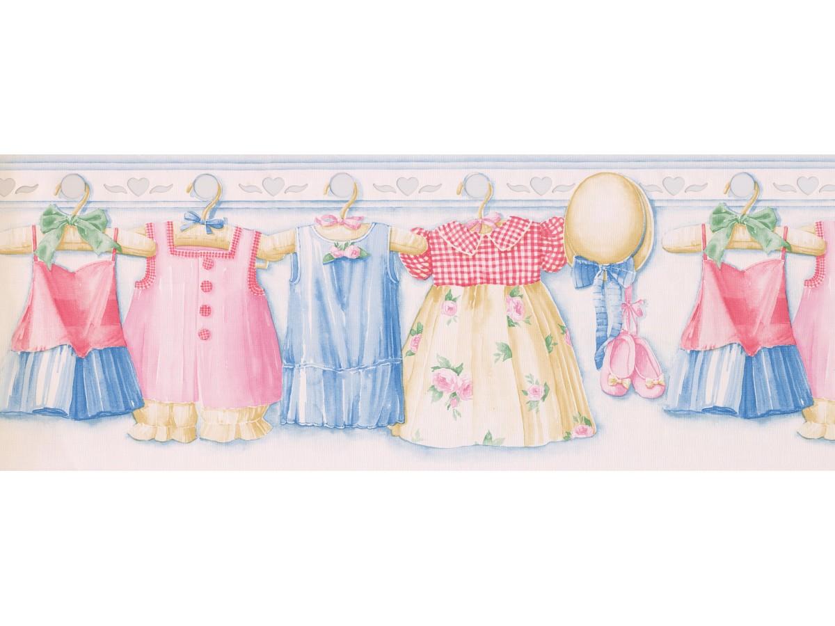 Pink Girl Dress Wallpaper Border 1200x900