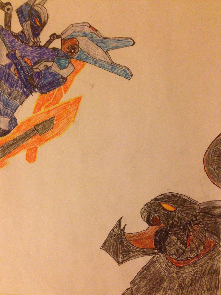 Mecha Aatrox vs Battlecast Prime Chogath by nathans0reach on 774x1033