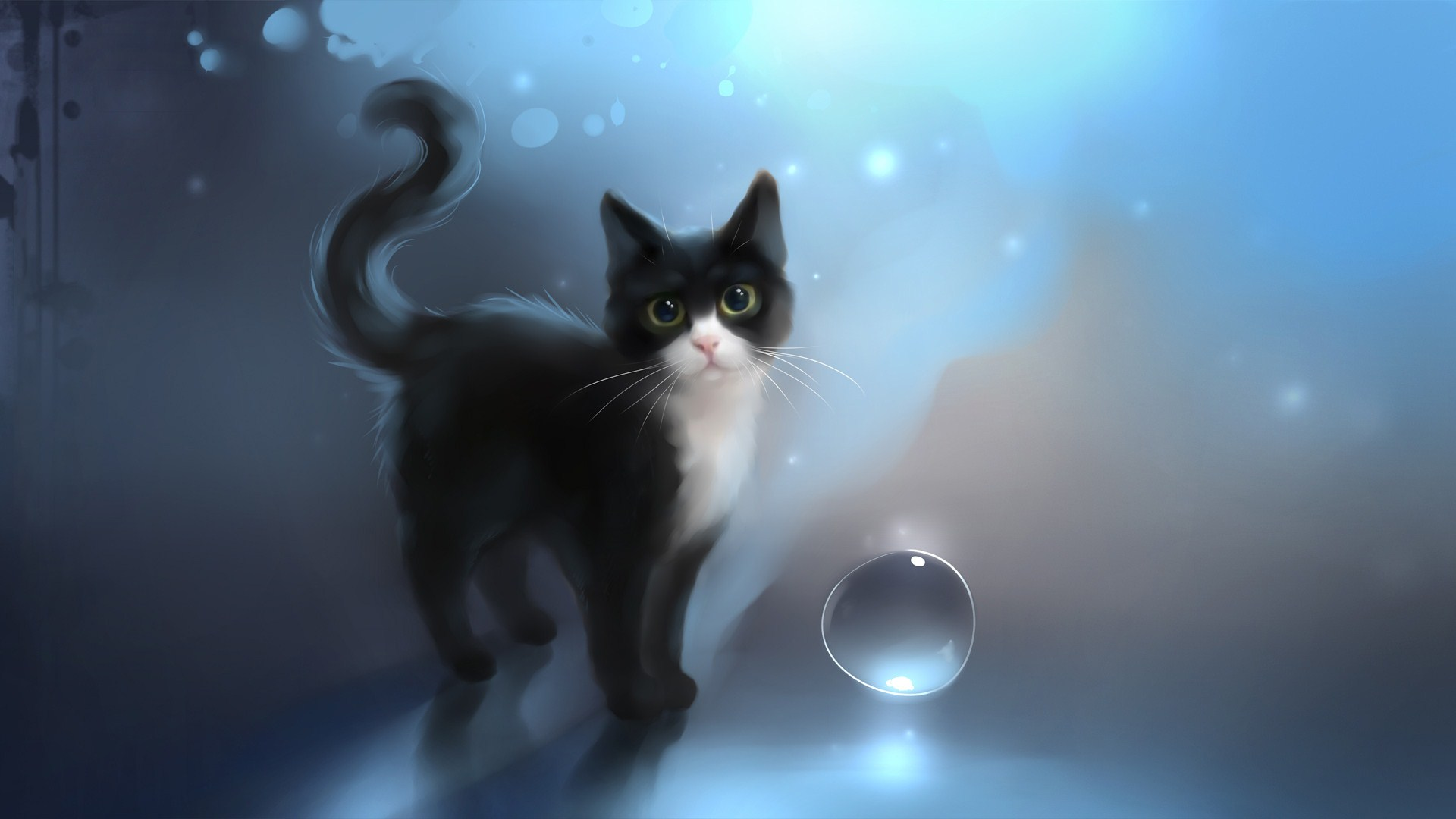 Grinning Black Cat