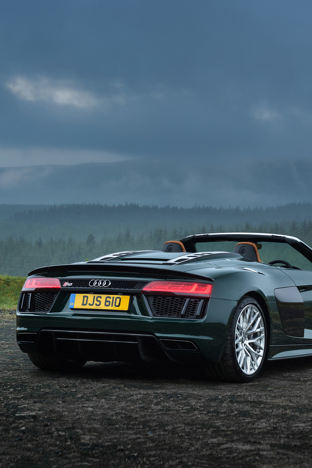 Audi R8 Spyder V10 Plus Rear 2017 5l Wallpaper   [640 x 960] 640x960