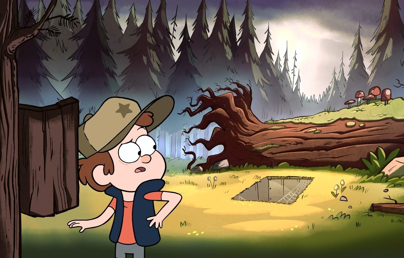Wallpaper Forest Gravity Falls Gravity Falls Dipper images for 1332x850