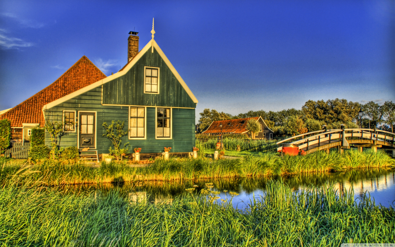 Holland Farmhouse 4K HD Desktop Wallpaper for 4K Ultra HD TV 2880x1800