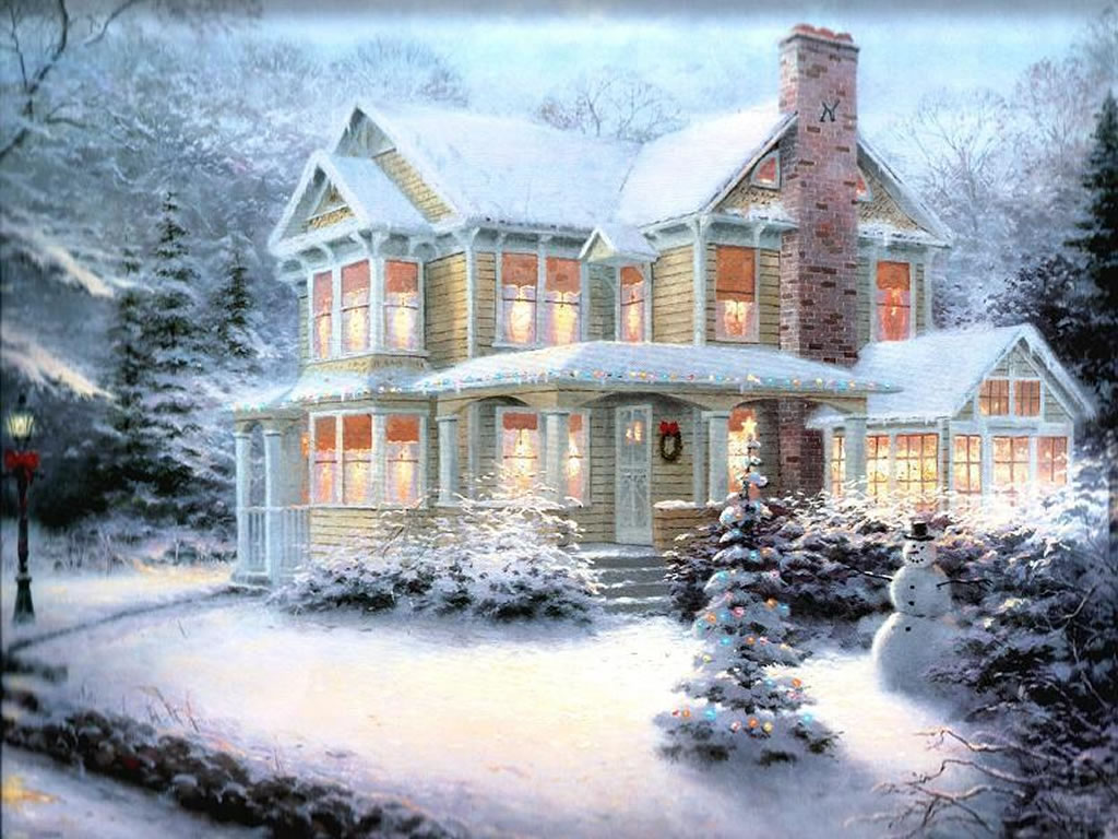 Winter Scenes Christmas Art 05 1024x768