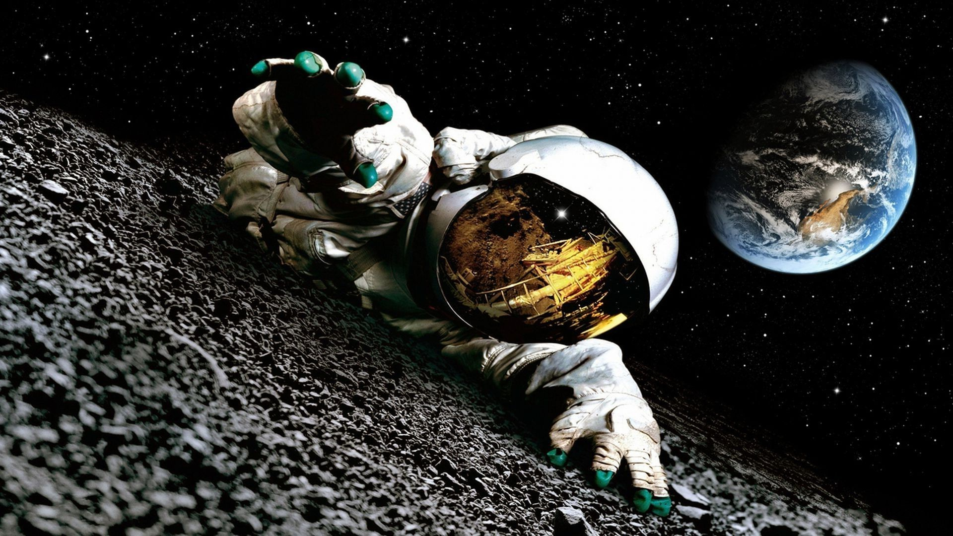 Astronaut on the moon wallpaper wallpapersafari - Doge steam background ...