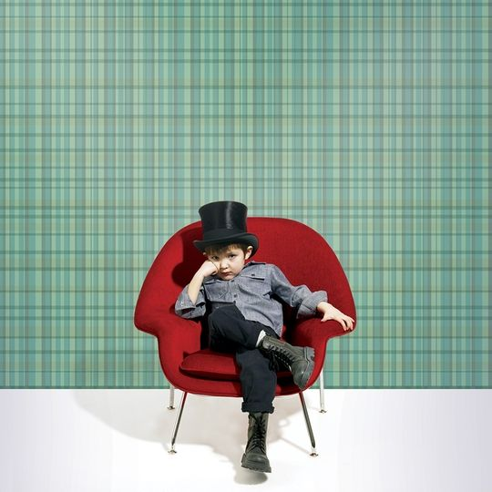Plaid Green Removable Wallpaper k i d s r oo m   d e c o r Pinter 540x540