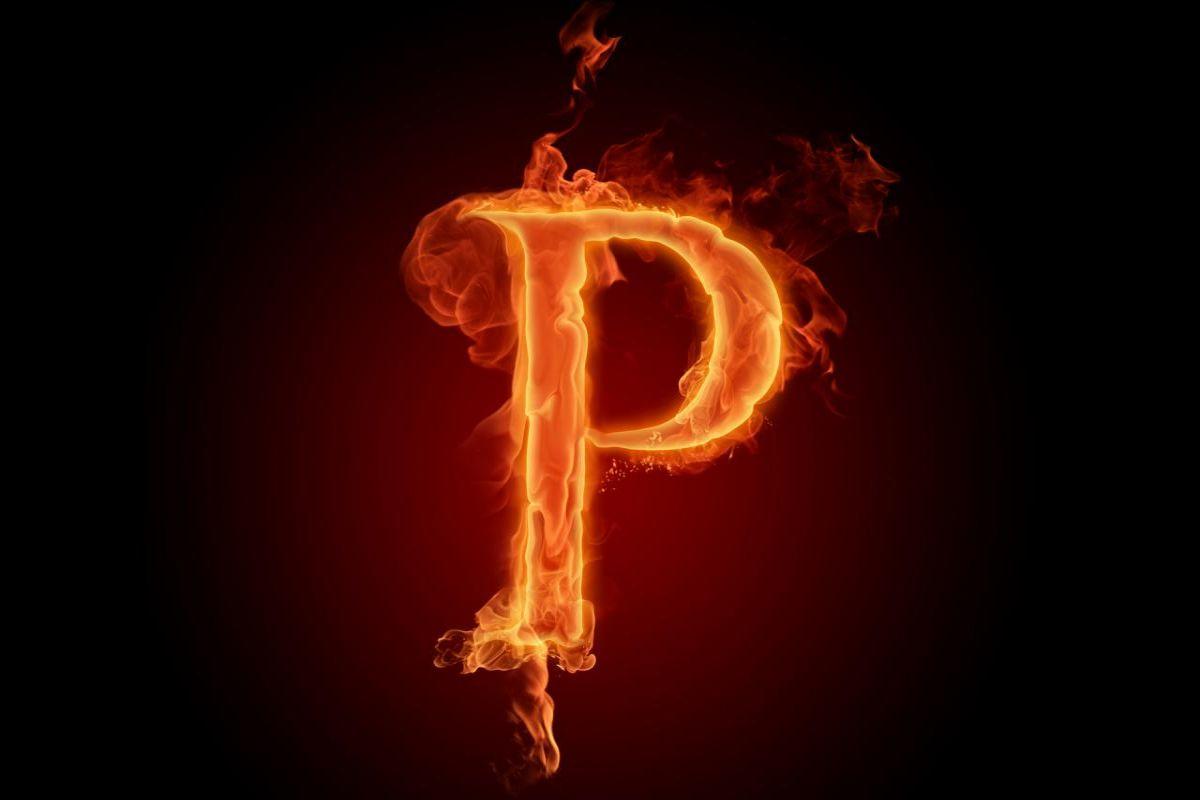 Letra P Fuego Fire Flames P Alphabet wallpaper download 1200x800