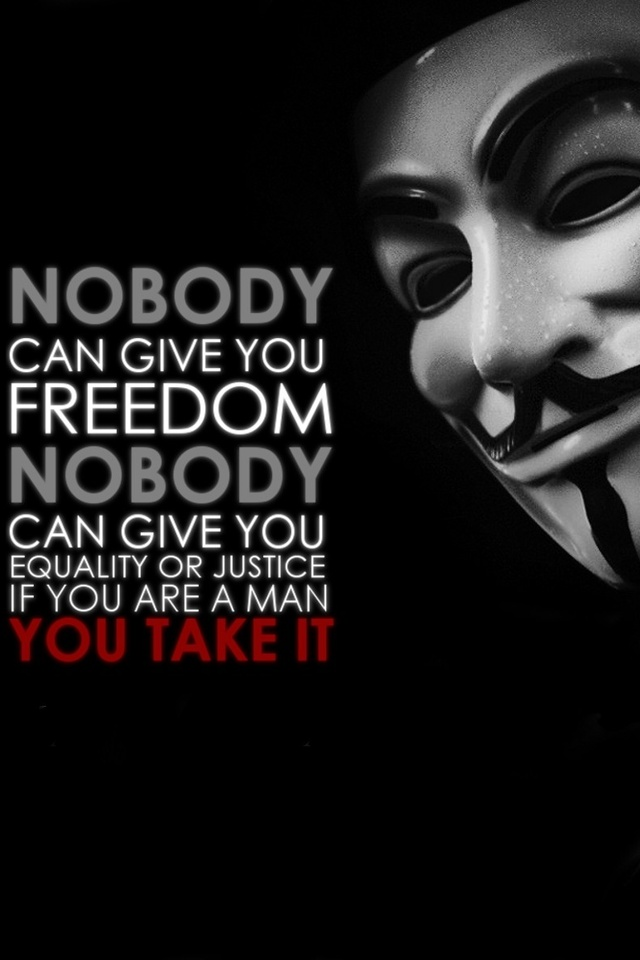 Anonymous Quote iPhone 4 Wallpaper Animated Wallpapers iPhone 640x960