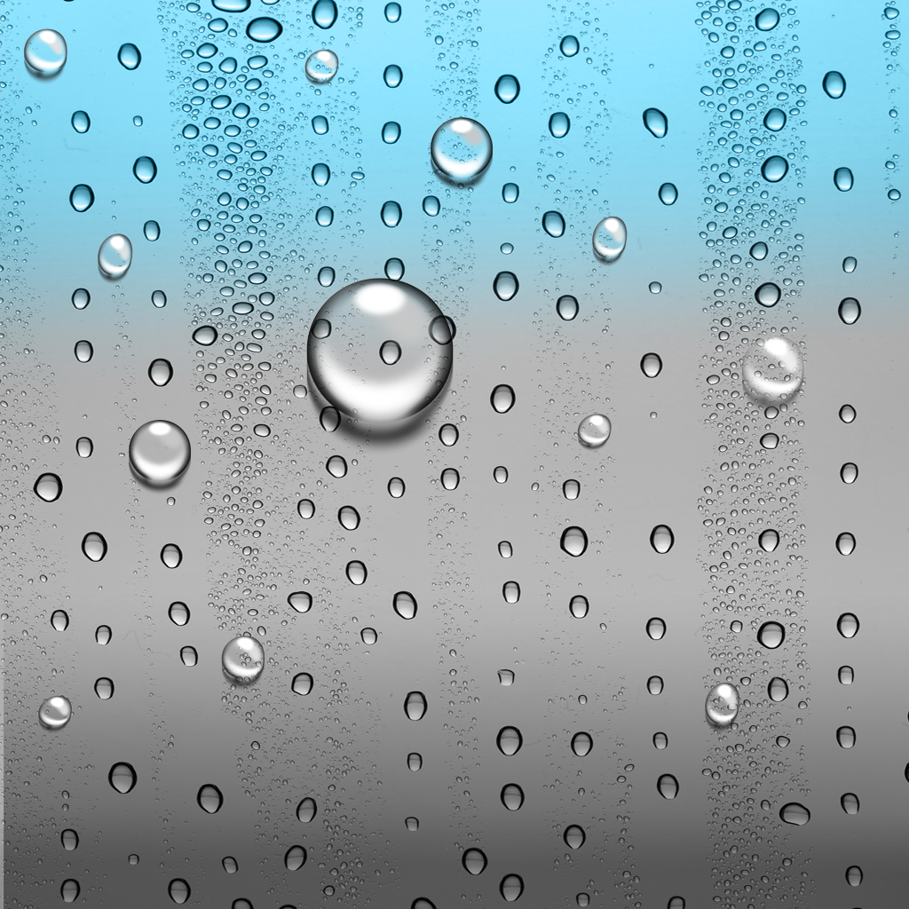 apple ipad water drops wallpaper