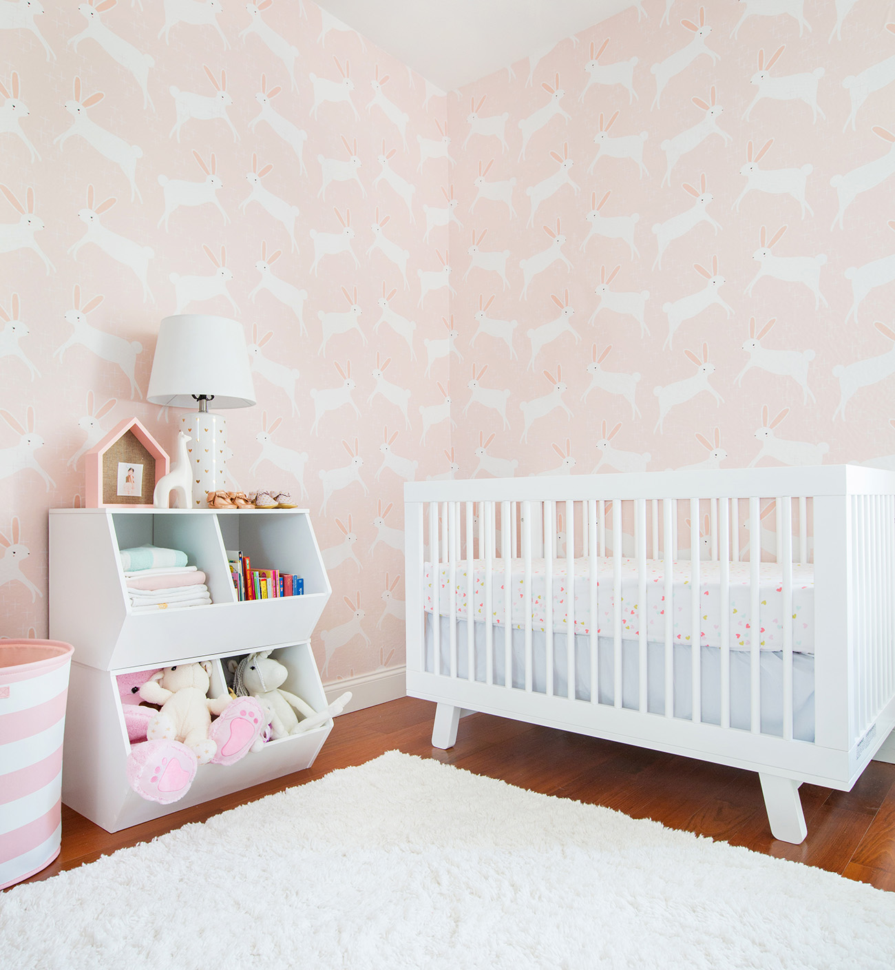 A Pink Bunny Nursery with Target Emily Henderson   Green Wedding 1300x1408