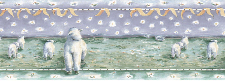 Kids Fairy Sheep Clouds Stars Wallpaper Border LA73559 eBay 770x278