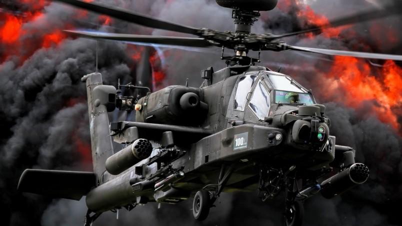 Apache Helicopter Wallpaper Desktop: AH 64 Apache Wallpaper